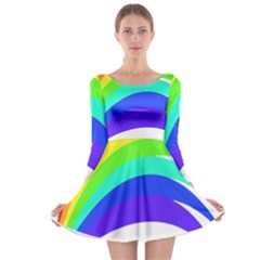 Rainbow Long Sleeve Skater Dress