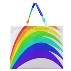 Rainbow Zipper Large Tote Bag