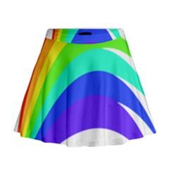 Rainbow Mini Flare Skirt