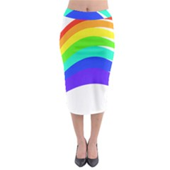 Rainbow Midi Pencil Skirt