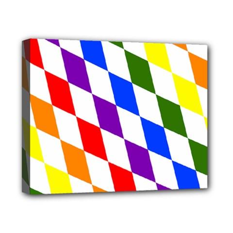 Rainbow Flag Bavaria Canvas 10  x 8
