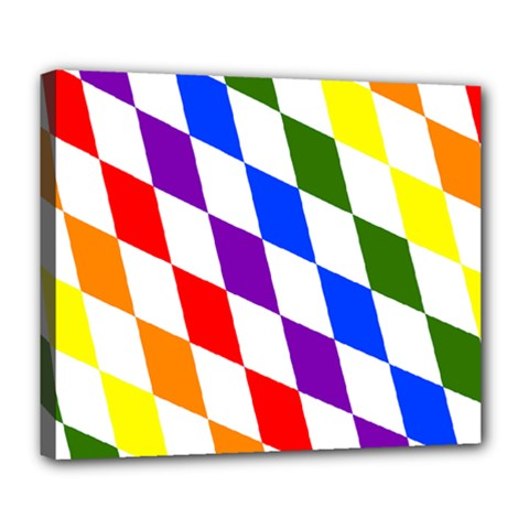Rainbow Flag Bavaria Deluxe Canvas 24  x 20