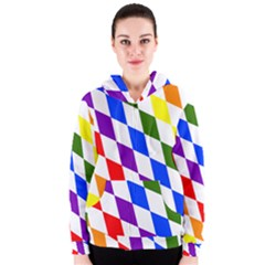 Rainbow Flag Bavaria Women s Zipper Hoodie