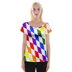 Rainbow Flag Bavaria Women s Cap Sleeve Top