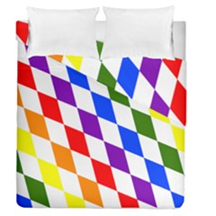Rainbow Flag Bavaria Duvet Cover Double Side (queen Size)