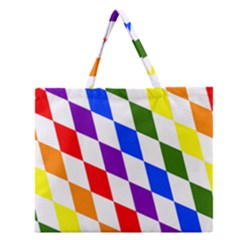 Rainbow Flag Bavaria Zipper Large Tote Bag