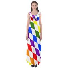 Rainbow Flag Bavaria Empire Waist Maxi Dress