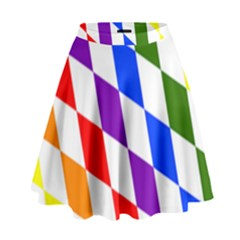 Rainbow Flag Bavaria High Waist Skirt