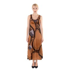 Seamless Dirt Texture Sleeveless Maxi Dress
