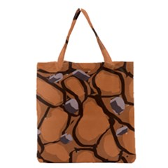 Seamless Dirt Texture Grocery Tote Bag