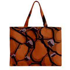 Seamless Dirt Texture Zipper Mini Tote Bag