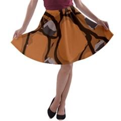 Seamless Dirt Texture A-line Skater Skirt