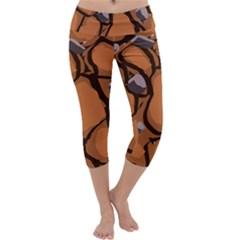 Seamless Dirt Texture Capri Yoga Leggings
