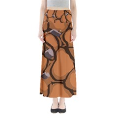 Seamless Dirt Texture Maxi Skirts