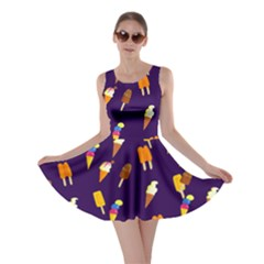 Seamless Ice Cream Pattern Skater Dress