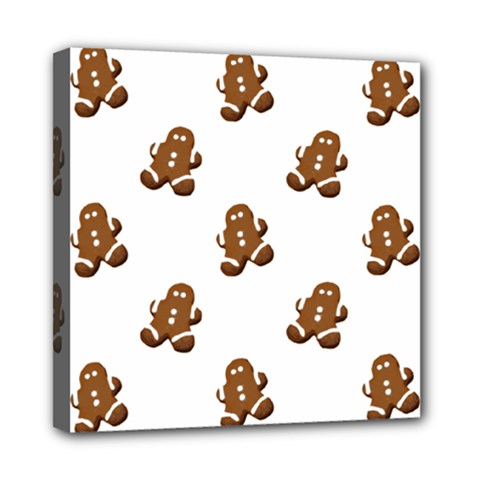Gingerbread Seamless Pattern Mini Canvas 8  X 8