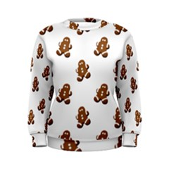 Gingerbread Seamless Pattern Women s Sweatshirt