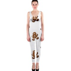 Gingerbread Seamless Pattern Onepiece Catsuit