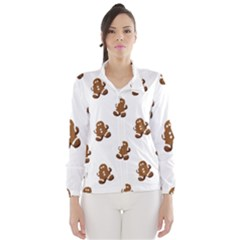 Gingerbread Seamless Pattern Wind Breaker (Women)