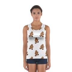 Gingerbread Seamless Pattern Women s Sport Tank Top