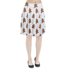 Gingerbread Seamless Pattern Pleated Skirt