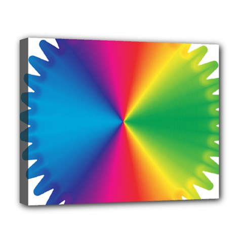 Rainbow Seal Re Imagined Deluxe Canvas 20  x 16