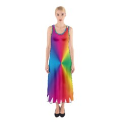 Rainbow Seal Re Imagined Sleeveless Maxi Dress