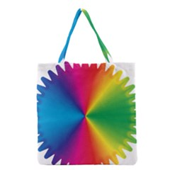 Rainbow Seal Re Imagined Grocery Tote Bag