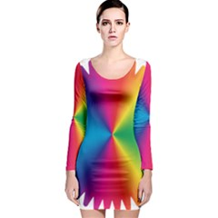 Rainbow Seal Re Imagined Long Sleeve Bodycon Dress