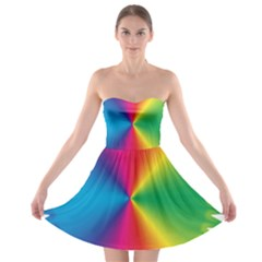 Rainbow Seal Re Imagined Strapless Bra Top Dress