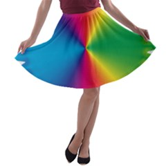 Rainbow Seal Re Imagined A Line Skater Skirt