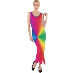 Rainbow Seal Re Imagined Fitted Maxi Dress