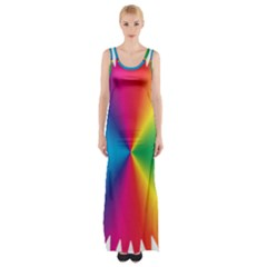 Rainbow Seal Re Imagined Maxi Thigh Split Dress