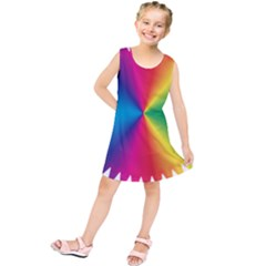 Rainbow Seal Re Imagined Kids  Tunic Dress