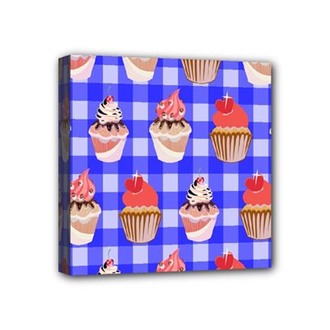 Cake Pattern Mini Canvas 4  x 4