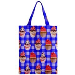 Cake Pattern Zipper Classic Tote Bag