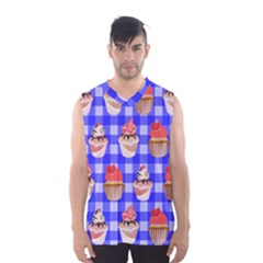 Cake Pattern Men s Basketball Tank Top