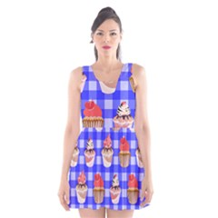 Cake Pattern Scoop Neck Skater Dress