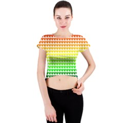 Rainbow Love Crew Neck Crop Top