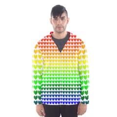 Rainbow Love Hooded Wind Breaker (men)