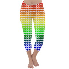 Rainbow Love Capri Winter Leggings