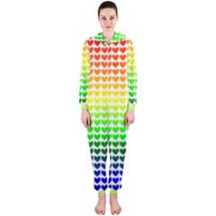 Rainbow Love Hooded Jumpsuit (ladies)