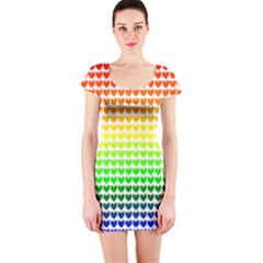 Rainbow Love Short Sleeve Bodycon Dress