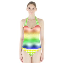 Rainbow Love Halter Swimsuit