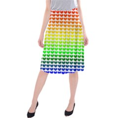 Rainbow Love Midi Beach Skirt