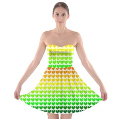Rainbow Love Strapless Bra Top Dress