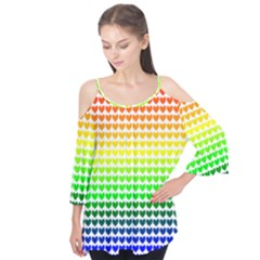 Rainbow Love Flutter Tees