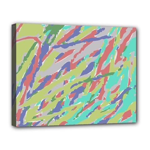 Crayon Texture Canvas 14  x 11