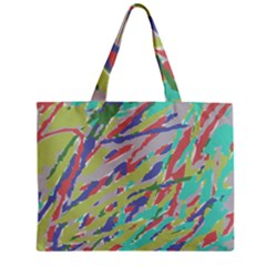 Crayon Texture Zipper Mini Tote Bag