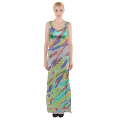 Crayon Texture Maxi Thigh Split Dress